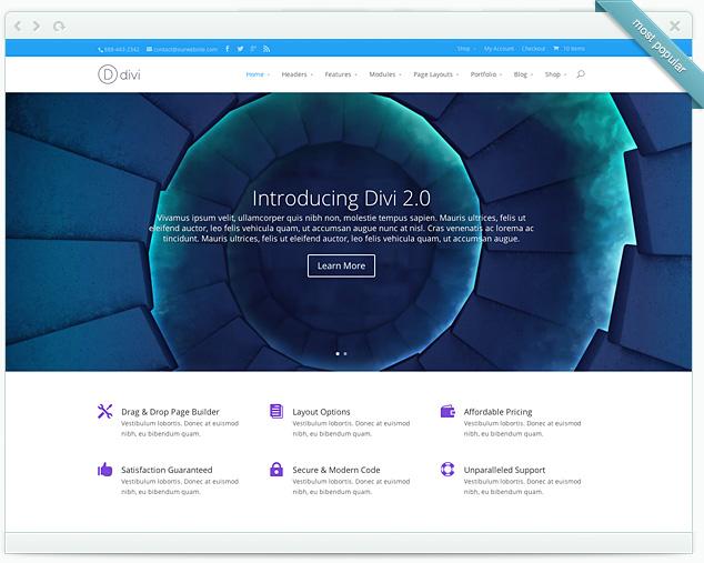 Modèle de site - Divi 2.0
